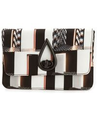 Kenzo Striped Shoulder Bag - Lyst