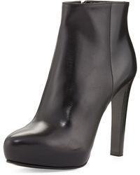 Prada High Heel Leather Ankle Boot - Lyst