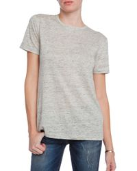 T By Alexander Wang Short Sleeved Linen Tee - Lyst