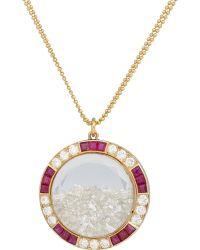 Renee Lewis Diamond, Ruby & Gold Shake Pendant Necklace - Lyst