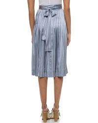 Jill Stuart Stripe Skirt - Blue - Lyst