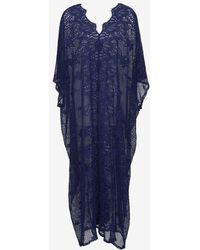 Miguelina Cotton Lace Maxi Caftan - Lyst