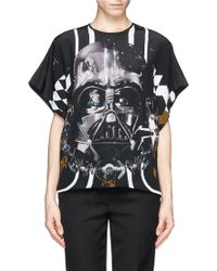 Preen Star Wars Print Silk Tshirt - Lyst