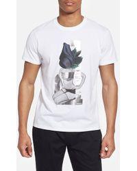 Diesel 'Efi' Graphic T-Shirt white - Lyst
