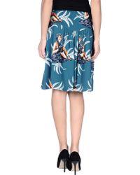 Prada Knee Length Skirt - Lyst