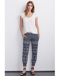 Velvet By Graham & Spencer | Sumi Printed French Terry Pant | Lyst