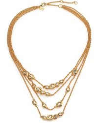 Alexis Bittar Elements Moonlight Crystal Multi-Strand Station Necklace - Lyst