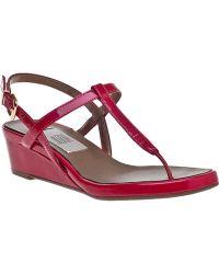 Vaneli For Jildor Kaffle Wedge Sandal Fuchsia Patent - Lyst