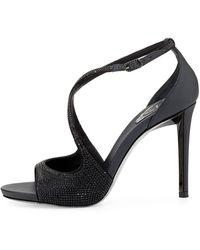 Rene Caovilla Swarovski Crystal Crisscross Sandal - Lyst