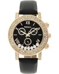 Style & Co. - Women's Boyfriend Black Strap Watch 38mm Sy008gbk - Only At Macy's - Lyst