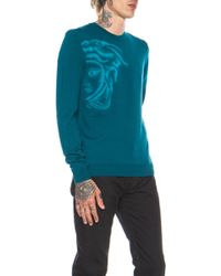 Versace Exploded Medusa Wool-blend Sweater - Lyst