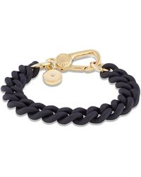 Marc By Marc Jacobs Rubber And Brass Bracelet - Lyst