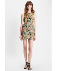 Saint Laurent Floral Brocade Dress black - Lyst