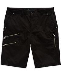 Guess Solid Zipper Shorts - Lyst