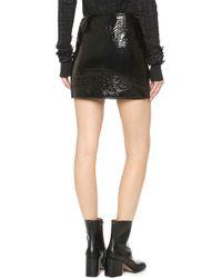 Vera Wang Collection - Miniskirt With Front Zipper - Black - Lyst