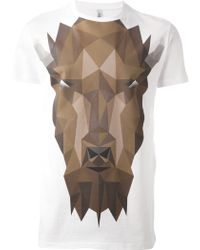 Neil Barrett Geometric Bison T-Shirt - Lyst
