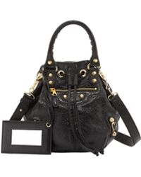 Balenciaga Giant 12 Golden Mini Pompon Bag Black - Lyst