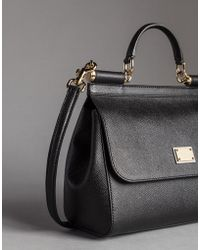 Dolce & Gabbana - Small Dauphine Leather Sicily Bag - Lyst