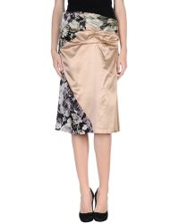 Dries Van Noten 3/4 Length Skirt - Lyst