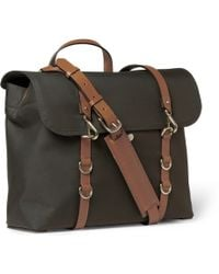 Mismo Leathertrimmed Canvas Messenger Bag - Lyst