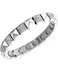Michael Kors Crystal Pavé Pyramid Tennis Bracelet - Lyst