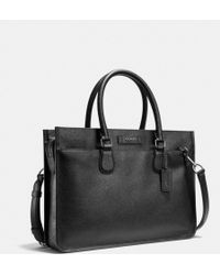 Coach Embassy Brief in Crossgrain Leather - Lyst