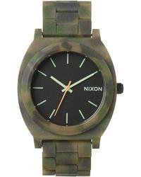 Nixon Time Teller Acetate Matt Black And Camo Watch - Lyst