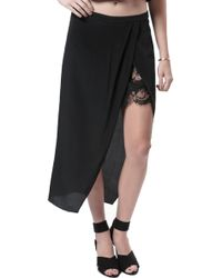 Mason by Michelle Mason Wrap Lace Skirt - Lyst