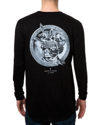 Crooks And Castles The Silver Coin Ls Scallop Top - Lyst