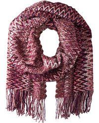 Missoni Purple scarves - Lyst