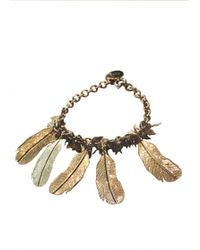 Matthew Williamson Feather Leaf Metallic Bracelet gold - Lyst