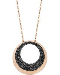 Swarovski Pebble Rose Goldtone  Crystal Pendant Necklace - Lyst