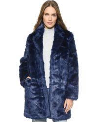 Won Hundred - Marian Faux Fur Coat - Medieval Blue - Lyst