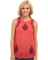 Lucky Brand Ruby Embroidered Tank Top - Lyst