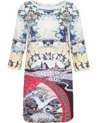 Mary Katrantzou Swan Village Mini Dress - Lyst