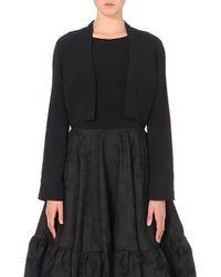 Antonio Berardi Structured Crepe Bolero Jacket - For Women black - Lyst