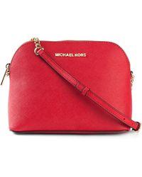 Michael Kors - Cindy Large Calf-Leather Cross-Body Bag - Lyst