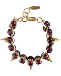 Joomi Lim Purple Crystal Pearl Vicious Love Bracelet