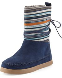 TOMS Striped Suede Nepal Boot - Lyst