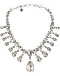 Tom Binns - Madam Dumont Rhodium-Plated Swarovski Crystal Necklace - Lyst