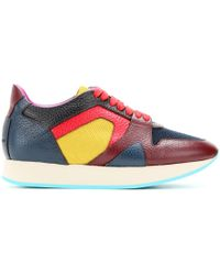 Burberry Prorsum The Field Leather Sneakers multicolor - Lyst