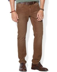 Ralph Lauren Polo Straight-fit 5-pocket Corduroy Pants - Lyst