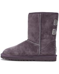 Ugg Classic Short Crystal Bow Boots - Lyst