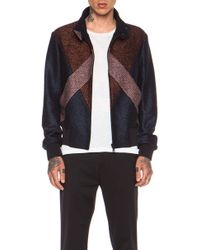 Kenzo Blended Wool  Lurex Jacket with V Detail - Lyst