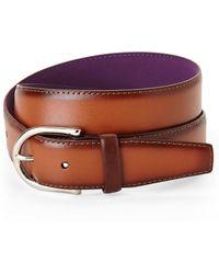 Ike By Ike Behar - Burnished Leather Belt - Lyst