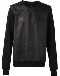 Giorgio Brato Front Panel Sweater - Lyst