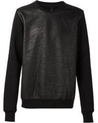 Giorgio Brato Front Panel Sweater - Lyst