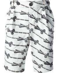 Bernhard Willhelm - Scissor Print Bermuda Shorts - Lyst