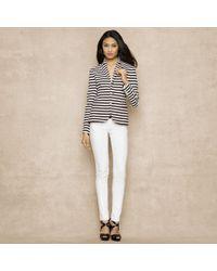 Ralph Lauren Blue Label - Striped Cotton Jacket - Lyst