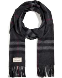Burberry Shoes & Accessories Cashmere Giant Check Icon Scarf - Lyst